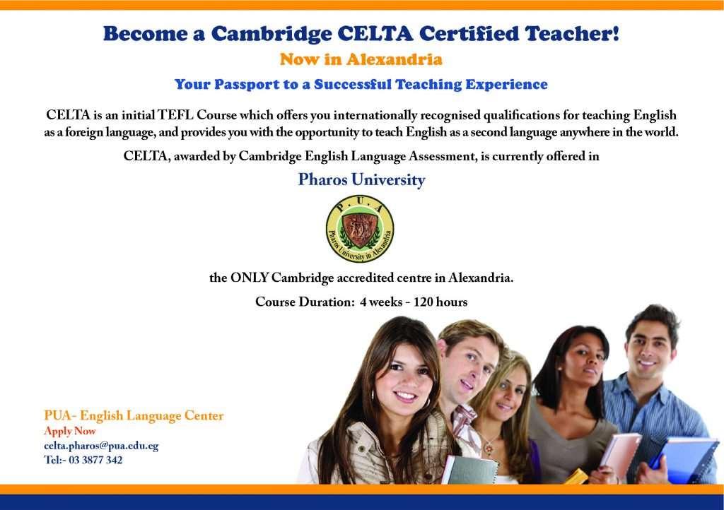 ELC Announcements Cambridge Teacher Training