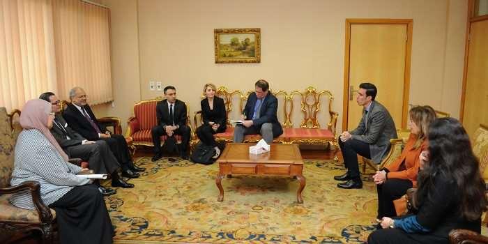 زيارة السفير الفرنسي لجامعة فاروس