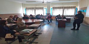 إجتماع رواد لجان الأنشطة الطلابية مع الطلاب الجدد