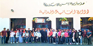 قسم الهندسة المعمارية ينظم زيارة ميدانية لمبنى إدارة المطافي بمنطقة كوم الدكة