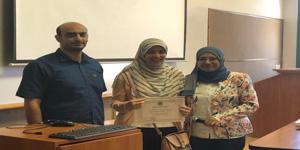 تكريم الطلاب الحاصلين على المركز الرابع فى البحث المجتمعى