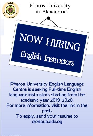 Job Opportunities | Pharos University in Alexandria
