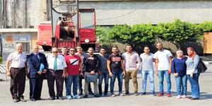 قسم هندسة البتروكيماويات ينظم زيارة لشركة النقل والهندسة