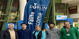 طلاب كلية العلوم المالية والإدارية في منحة بجامعة دبلن للتكنولوجيا